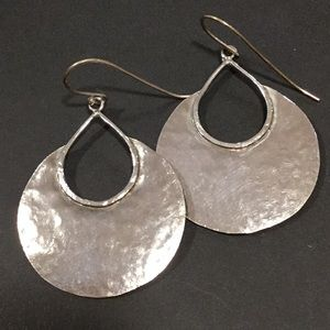 Silpada silver hammered earrings